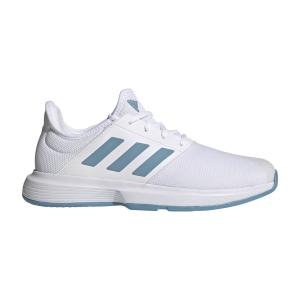 Men`s Tennis Shoes Adidas GameCourt  Ftwr White/Hazy Blue/Halo Blue FX1552