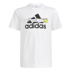 Polo e Maglie Tennis adidas Graphic Logo Maglietta Bambino  White GN8068