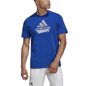 Men's Tennis Shirts Adidas Logo Write TShirt  Team Royal Blue GD9224