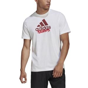 Men's Tennis Shirts Adidas Logo Write TShirt  White GD9225