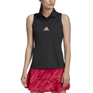 Women`s Tennis Tanks Adidas Match HEAT.RDY Tank  Black GG3785