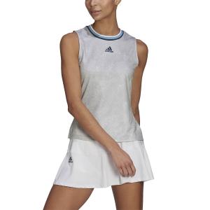 Women`s Tennis Tanks adidas Match Primeblue Tank  White/Cream Navy GQ2240