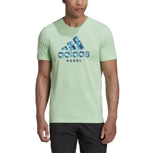 Men's Tennis Shirts Adidas Padel Logo TShirt  Glory Mint GF4092