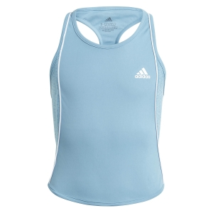 Top and Shirts Girl adidas Pop Up Tank Girl  Hazy Blue/White GL6210