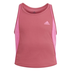 Top and Shirts Girl adidas Pop Up Tank Girl  Wild Pink/Screaming Pink GK3012