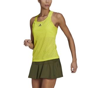 Canotte Tennis Donna adidas Primeblue HEAT.RDY Canotta  Acid Yellow/Crew Navy GH7593