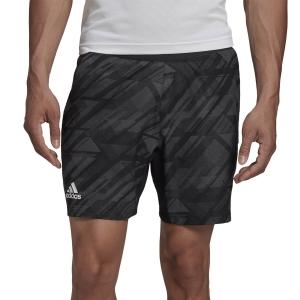 Men's Tennis Shorts Adidas Print 7in Shorts  Black GG3739