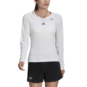 Women`s Tennis T-Shirts and Polos Adidas Silhouette Shirt  White/Copper Met GH7893