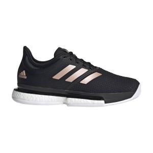 Women`s Tennis Shoes Adidas SoleCourt Boost  Core Black/Ftwr White/Copper Met FU8133