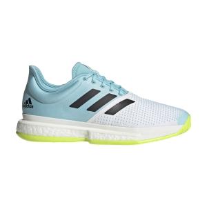 Men`s Tennis Shoes Adidas SoleCourt Primeblue  Ftwr White/Core Black/Solar Yellow FX1729