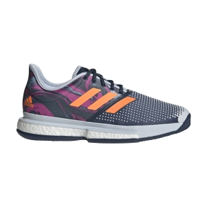 Scarpe Tennis Uomo Adidas SoleCourt Primeblue  Halo Blue/Screaming Pink/Screaming Orange FX1730