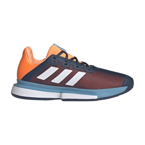 Scarpe Tennis Uomo Adidas SoleMatch Bounce  Crew Navy/Ftwr White/Screaming Orange FX1733