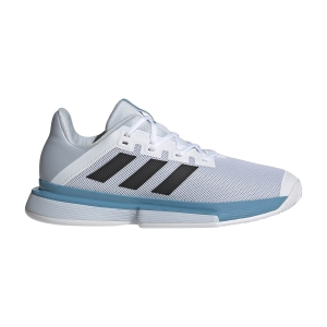 Scarpe Tennis Uomo Adidas SoleMatch Bounce  Ftw White/Core Black/Halo Blue FX1732