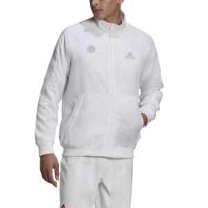 Men's Tennis Jackets Adidas Uniforia Jacket  White/Reflective Silver/Dash Grey FR4316
