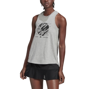Top de Tenis Mujer adidas Us Open Top  Medium Grey Heather GD9109