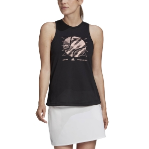 Top de Tenis Mujer adidas Us Open Top  Black GD9110