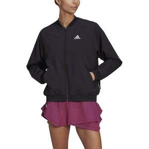 Tennis Women's Jackets adidas Woven AEROREADY Jacket  Black/White GU0768