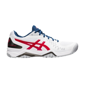 Calzado Tenis Hombre Asics Gel Challenger 12  White/Classic Red 1041A045117