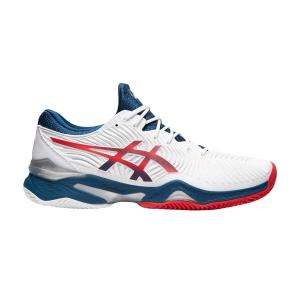 Men`s Tennis Shoes Asics Court FF 2 Clay  White/Mako Blue 1041A082102