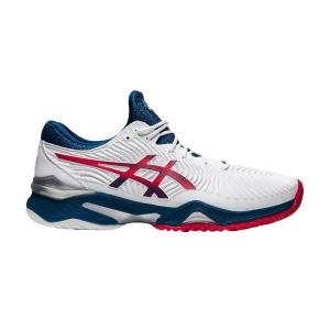 Men`s Tennis Shoes Asics Court FF 2  White/Mako Blue 1041A083102