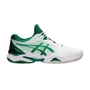 Men`s Tennis Shoes Asics Court FF Novak Clay  White/Kale 1041A090104