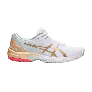 Women`s Tennis Shoes Asics Court Speed FF Clay L.E.  White/Champagne 1042A146100