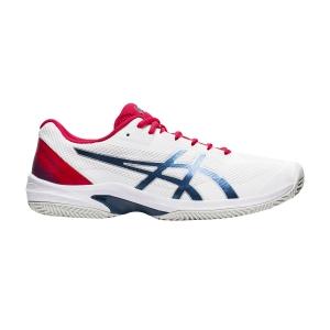 Men`s Tennis Shoes Asics Court Speed FF Clay  White/Mako Blue 1041A093105