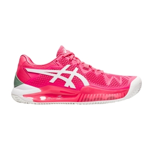 Calzado Tenis Mujer Asics Gel Resolution 8 Clay  Pink Cameo/White 1042A070702