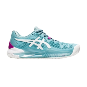 Women`s Tennis Shoes Asics Gel Resolution 8 Clay  Smoke Blue/White 1042A070403