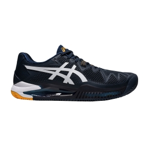 Calzado Tenis Hombre Asics Gel Resolution 8 Clay  French Blue/White 1041A076403