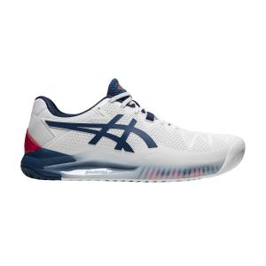 Men`s Tennis Shoes Asics Gel Resolution 8  White/Mako Blue 1041A079103