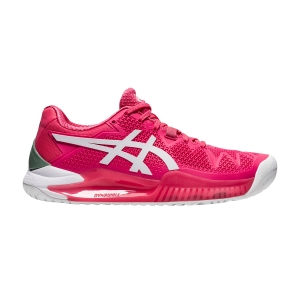 Calzado Tenis Mujer Asics Gel Resolution 8  Pink Cameo/White 1042A072702