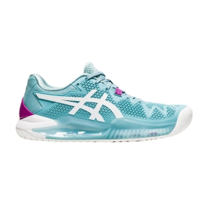 Scarpe Tennis Donna Asics Gel Resolution 8  Smoke Blue/White 1042A072403