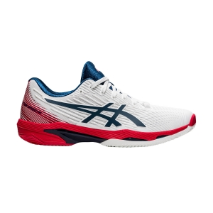 Scarpe Tennis Uomo Asics Solution Speed FF 2 Clay  White/Mako Blue 1041A187101