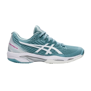 Scarpe Tennis Donna Asics Solution Speed FF 2 Clay  Smoke Blue/White 1042A134400