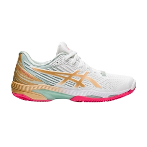 Calzado Tenis Mujer Asics Solution Speed FF 2 L.E. Clay  White/Champagne 1042A140100
