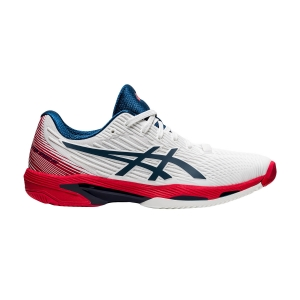 Scarpe Tennis Uomo Asics Solution Speed FF 2  White/Mako Blue 1041A182101