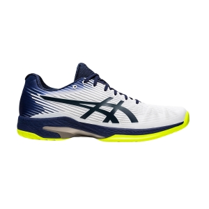 Men`s Tennis Shoes Asics Solution Speed FF  White/Peacoat 1041A003104