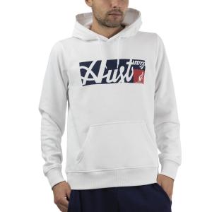 Men's Tennis Shirts and Hoodies Australian All Logo Print Hoodie  Bianco SWUFE0004002