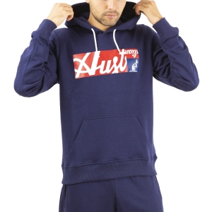 Men's Tennis Shirts and Hoodies Australian All Logo Print Hoodie  Blu Cosmo SWUFE0004842
