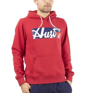 Men's Tennis Shirts and Hoodies Australian All Logo Print Hoodie  Tango Red SWUFE0004930