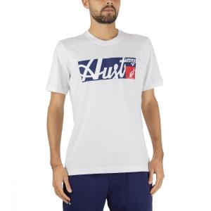 Men's Tennis Shirts Australian All Logo Print TShirt  Bianco SWUTS0003002