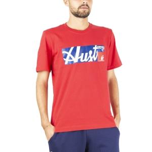 Maglietta Tennis Uomo Australian All Logo Print Maglietta  Tango Red SWUTS0003930