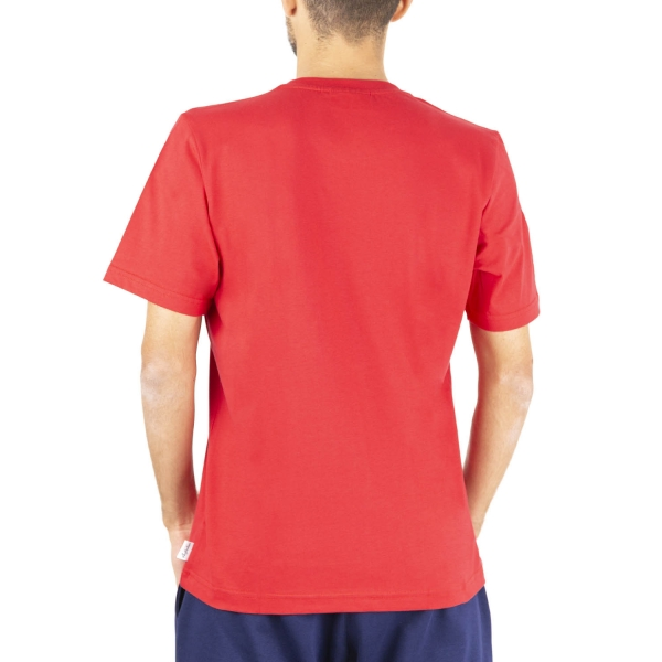 Australian All Logo Print T-Shirt - Tango Red