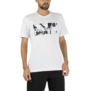 Maglietta Tennis Uomo Australian Camo Printed Maglietta  Bianco SWUTS0005002