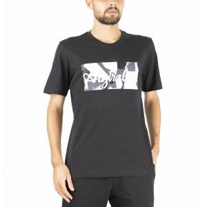 Maglietta Tennis Uomo Australian Camo Printed Maglietta  Nero SWUTS0005003