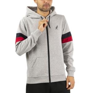 Men's Tennis Shirts and Hoodies Australian Full Zip Hoodie  Grigio Chiaro LSUGC0003101