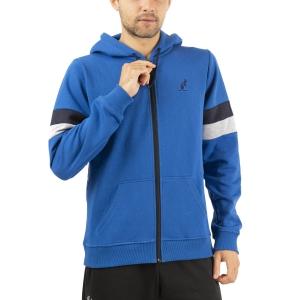 Men's Tennis Shirts and Hoodies Australian Full Zip Hoodie  Blu Metilene LSUGC0003088