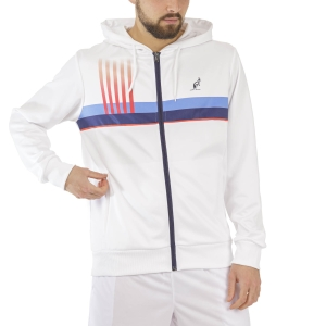 Men's Tennis Jackets Australian Print Stripes Jacket  Bianco TEUGC0001002