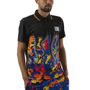 Polo Tenis Hombre Australian vs Octopus Ace Polo  Black OCUPO0001003